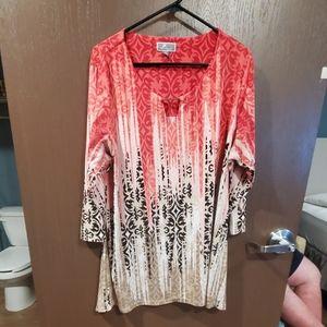 3/4 Length Sleeve Pattern Shirt